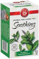 Teekanne Soothing Purely Peppermint Caffeine Free 1.41 Oz Tea Bags 20 Ct Box