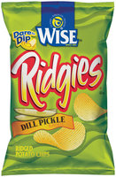 Wise® Ridges® Dill Pickle Flavored Ridged Potato Chips 6.75 oz. Bag