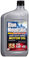 Blue Mountain™ 5W-40 Heavy Duty Diesel Motor Oil 1 qt. Bottle