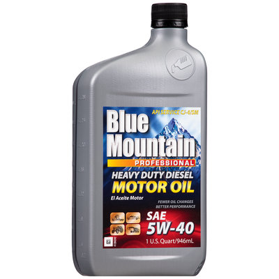 Blue Mountain™ 5W-40 Heavy Duty Diesel Motor Oil 1 qt. Bottle