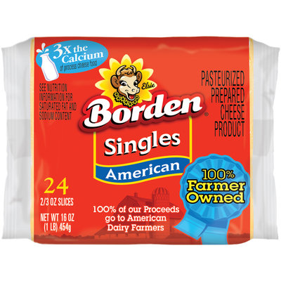 Borden® American Cheese Singles 24 ct Pack