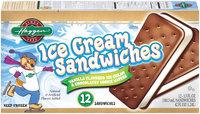 Haggen  Ice Cream Sandwiches 12 Ct Box