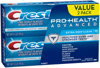 Advanced Cleaning Crest Pro-Health Advanced Extra Deep Clean Toothpaste Twin Pack 3.5 oz.