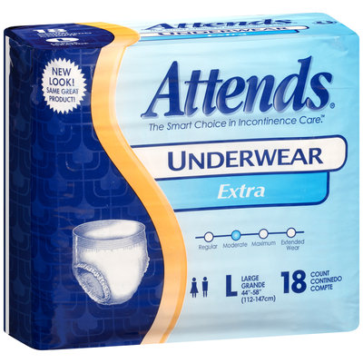 AP0730 Attends® Underwear Extra Absorbency Large, 18 count