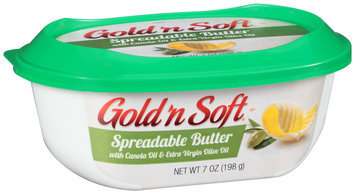 Gold 'n Soft® Spreadable Butter with Canola Oil & Extra Virgin Olive Oil 7 oz. Tub