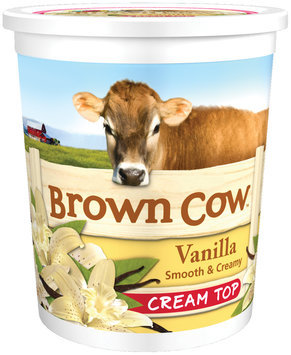 Brown Cow Vanilla Smooth & Creamy Cream Top Yogurt 32 oz. Tub