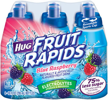 Hug® Fruit Rapids Blue Raspberry Fruit Drink 6-10 fl. oz. Bottles