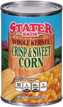 Stater Bros.® Whole Kernel Crisp & Sweet Corn 15.25 oz. Can