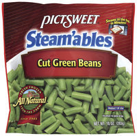 STEAM'ABLES ALL NATURAL Cut Green Beans 10 OZ STAND UP BAG