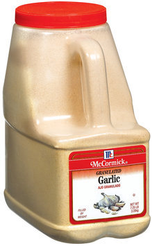 Spice Blends Granulated Garlic 7.25 Lb Bottle