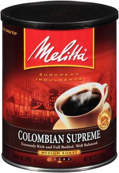 Melitta® Colombian Supreme Medium Roast Ground Coffee 22 oz. Canister