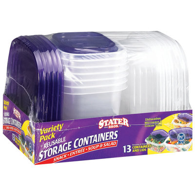 Stater Bros. Variety Pack  Storage Containers & Lids 13 Ct