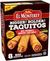 El Monterey™ Beef, Cheddar & Monterey Jack Cheese Taquitos 8 ct Box
