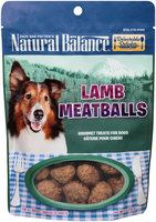 Natural Balance® Delectable Delights® Lamb Meatballs Gourmet Dog Treats 4 oz. Stand Up Bag
