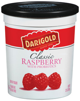 Darigold Classic Raspberry W/Probiotics Lowfat Yogurt 32 Oz Tub