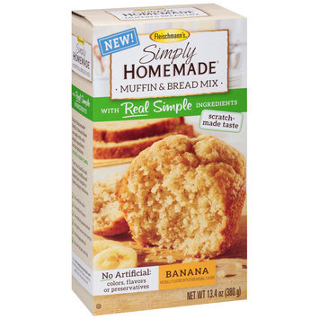 Fleischmann's® Simply Homemade® Banana Muffin & Bread Mix 13.4 oz. Box