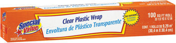 Special Value Clear Roll Plastic Wrap 100 Sf Box