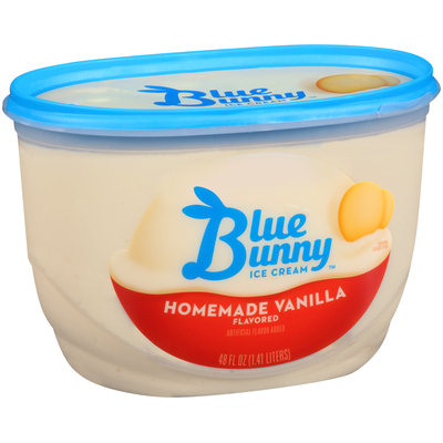 Blue Bunny Ice Cream Homemade Vanilla Flavored
