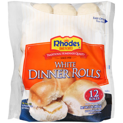 Rhodes Bake-N-Serv® Frozen White Dinner Rolls Dough 12 ct Bag