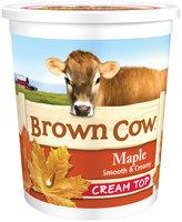 Brown Cow Maple Smooth & Creamy Cream Top Yogurt 32 oz. Tub