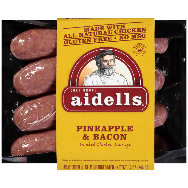 Aidells® Pineapple & Bacon Smoked Chicken Sausage 12 oz. Pack