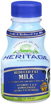 Stremicks Heritage Foods® Reduced Fat Milk 8 fl. oz. Bottle