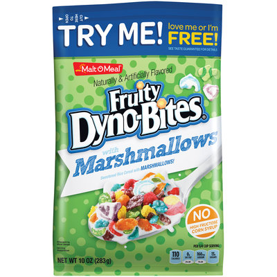 Malt-O-Meal® Fruity Dyno-Bites® with Sweetened Rice with Marshmallows Cereal 10 oz. Bag