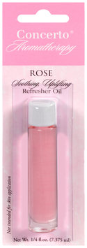 Concerto® Aromatherapy Rose Refresher Oil 0.25 fl.oz. Carded Pack