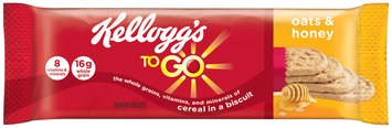 Kellogg's® To Go™ Oats & Honey Morning Biscuit 1.55 oz. Pack