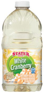Stater Bros. White Cranberry Juice Cocktail 64 Oz Plastic Bottle