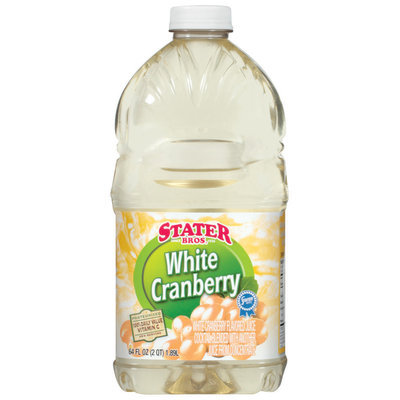 Stater Bros. White Cranberry Juice Cocktail 64 Oz Plastic Bottle