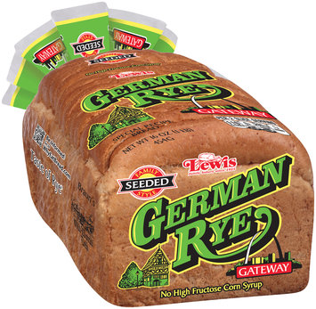 Lewis® Family Style Seeded Gateway German Rye Bread 16 oz. Bag