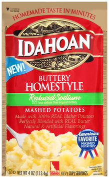 Idahoan® Reduced Sodium Buttery Homestyle Mashed Potatoes 4 oz. Pouch