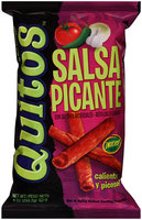Quitos™ Salsa Picante Hot & Spicy Rolled Tortilla Snacks 9 oz. Bag