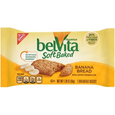 belVita Soft Baked Banana Bread Breakfast Biscuit 1.76 oz. Pack