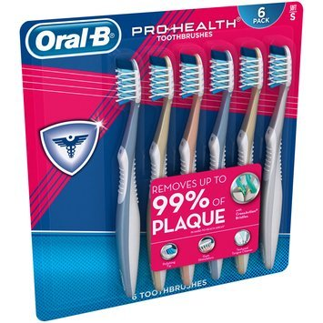 CrossAction Oral-B Pro-Health All-In-One 40 Soft Toothbrush, 6 ct