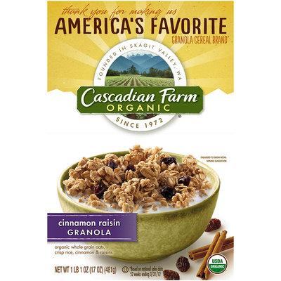 Cascadian Farm® Organic Cinnamon Raisin Granola 17 oz. Box
