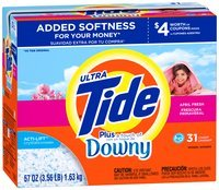 Tide Ultra Plus a Touch of Downy April Fresh Scent HE Powder Laundry Detergent 57 oz. Box