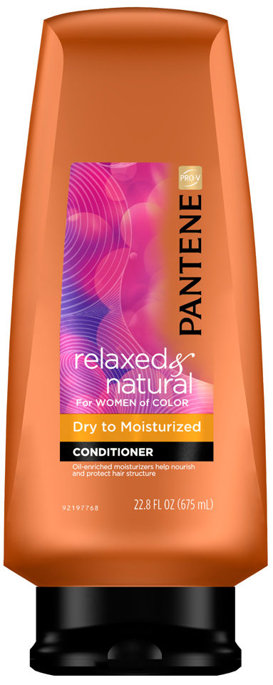 Dry to Moisturized Pantene Pro-V Relaxed & Natural For Women of Color Dry to Moisturized Conditioner 22.8 Fl Oz