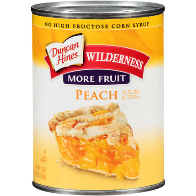 Duncan Hines® Wilderness® More Fruit Peach Pie Filling & Topping 21 oz. Can