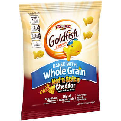Pepperidge Farm® Goldfish® Whole Grain Hot 'n Spicy Cheddar Baked Snack Crackers