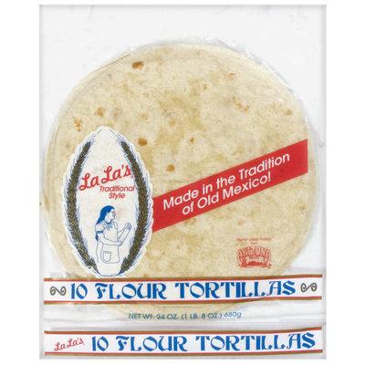 La La's Flour Tortillas 24 Oz Package