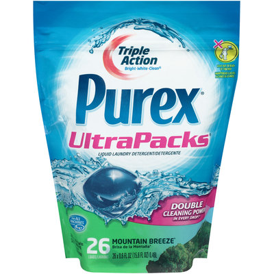 Purex® UltraPacks® Mountain Breeze® Liquid Laundry Detergent Stand Up Bag 15.6 fl. oz.