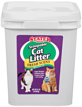 Stater Bros. Scoopable Fresh Scent Multicat Cat Litter 31 Lb Plastic Container