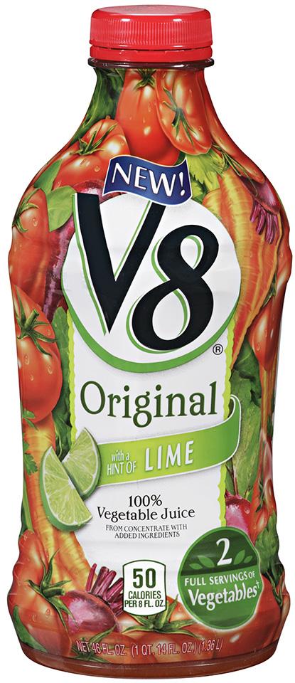 V8® Original Vegetable Juice with a Hint of Lime 46 fl. oz. Bottle