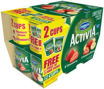 Activia Lowfat Yogurt Strawberry/Strawberry Banana