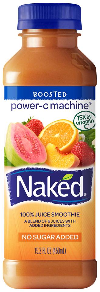 NAKED JUICE Power-C Machine Juice Smoothie 15.2 OZ PLASTIC BOTTLE
