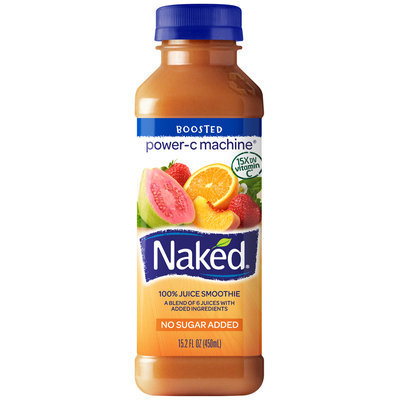 NAKED JUICE Power-C Machine Juice Smoothie 15.2 OZ PLASTIC BOTTLE