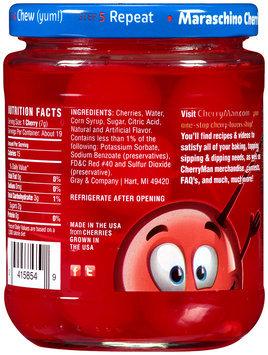 CherryMan® Jumbo with Stems Maraschino Cherries