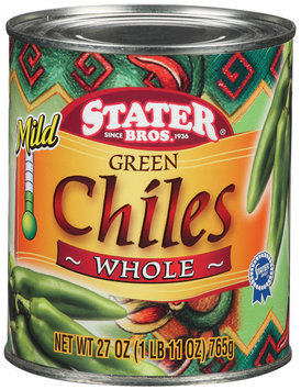 Stater Bros. Green Whole & Mild Chiles 27 Oz Can